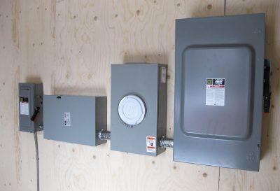 Conteneurs - modifiés (installation électrique)