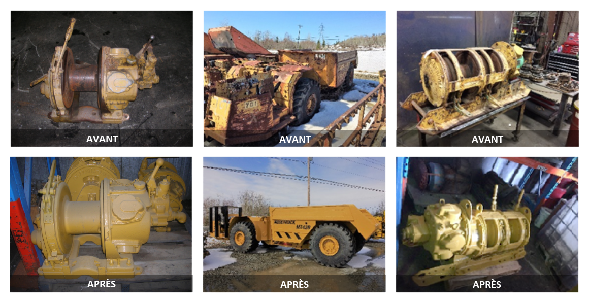 Réhabilitation à neuf d'équipements - avant et après